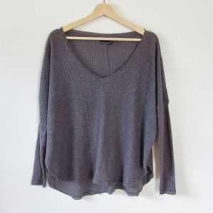 Urban Outfitters Waffle-Knit Long Sleeve